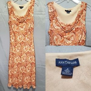 Ann Taylor Orange Paisley Dress
